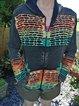 Color-Block Hoodie Vintage Outerwear
