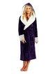 Fashionable loose contrast color comfortable soft ultra-light bathrobe