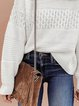 Round Neck Casual Sweaters