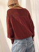 Thick needle jacquard stitching long-sleeved loose and comfortable autumn and winter round neck sweater