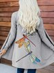 Casual Long Sleeve Cotton-Blend Outerwear