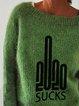 Green round neck vintage sweater