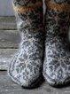 Retro patterned socks