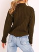 Casual fit mid-high neck cashmere wool knit top