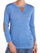 Cotton-Blend Plain Long Sleeve Casual Shirts & Tops