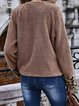 Long Sleeve Scoop Neck Zipper Zip Up Coats
