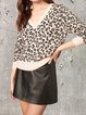 V-neck casual loose and comfortable wool long-sleeved woolen top