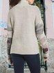 Round neck contrast color comfortable fit wool woolen top