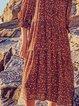 Long Sleeve Casual Tribal Dresses