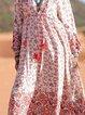 V Neck Cotton-Blend Vintage Dresses
