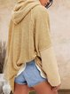 Hooded casual personality and comfortable fit sweater