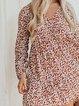 V Neck Polka Dots Casual Printed Dresses