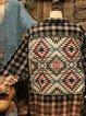 Shirt Collar Long Sleeve Shift Geometric Shirts & Tops