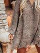 Printed Casual Bateau/boat Neck Dresses
