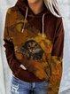 Long Sleeve Cotton-Blend Casual Hoodie Sweatshirt