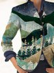 Retro Print Casual Jacket Coat