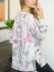 V-neck spring and autumn fashion leisure vacation soft and comfortable women's sweater