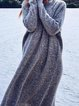 Round Neck Casual Long Sweater Dress