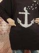 Cotton-Blend Cartoon Shift Vintage Sweatshirt