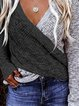 V-Neck Casual Sweaters