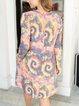 Fashion resort-style tie-dye printing casual personality dress