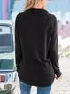 Black Casual Cowl Neck Pullover Sweatshirt