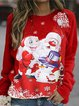 Women's Santa Cartoon Christmas Sweatshirt