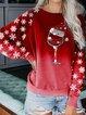 Round Neck Long Sleeves Christmas Sweatshirt