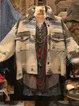 Casual Cotton-Blend Shawl Collar Outerwear