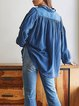 Casual retro fashion loose-fitting soft and comfortable women's shirt