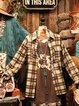 Long Sleeve Shift Shirt Collar Color-Block Outerwear