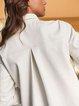 Light retro fashion solid color female pocket decorated shirt
