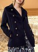 Light retro fashion solid color women's simple casual jacket outerwear