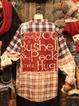 Appliqued Long Sleeve Cotton-Blend Shirts & Tops