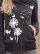 Long Sleeve High Neckline Buttons Pockets Coats