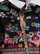 Printed Long Sleeve Vintage Shirts & Tops