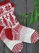 Christmas robot cotton knitted socks