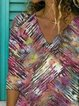 Casual V-Neckline 3/4 Sleeves Blouses