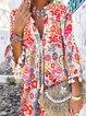 3/4 Sleeves Flare Sleeve Shift Above Knee Casual Boho Tunic Dresses