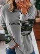Print Leopard Long Sleeves Sweatshirt