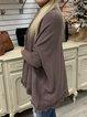 Casual Long Sleeve Plain Sweater