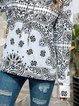 Vintage Bohemian Printed Long Sleeve Hoodie Sweatshirt