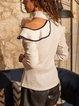 Solid One-Shoulder Long Sleeves Elegant Blouses
