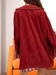 Retro casual mid-length special cheap beautiful suede autumn and winter coat
