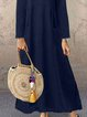 Long-Sleeved Casual Solid Dress