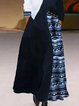 Casual Print Stitching Long Sleeve Dress