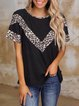 Women's casual stitching simple knitted essential top