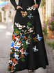 Butterfly Print The Handmaids Tale Long Sleeve Dress