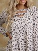 Leopard print personalized fashion ladies casual all-match T-shirt