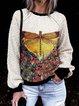 Shift Long Sleeve Floral Cotton-Blend Sweatshirt